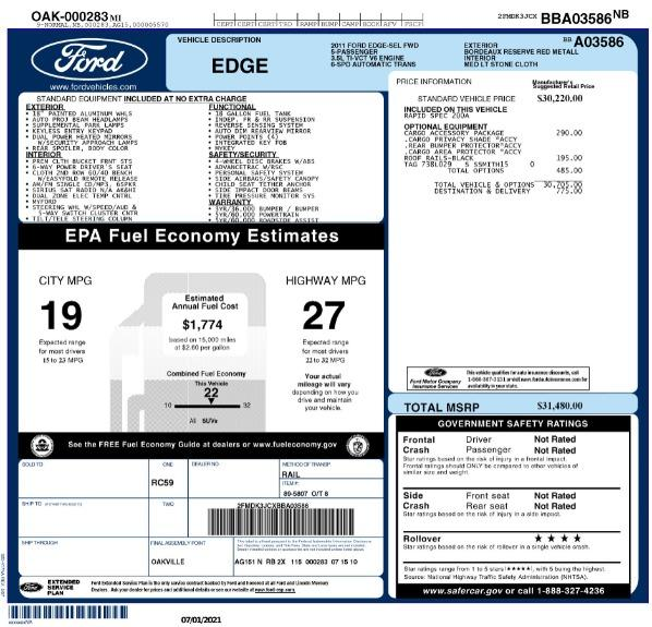 Used 2011 Ford Edge SEL