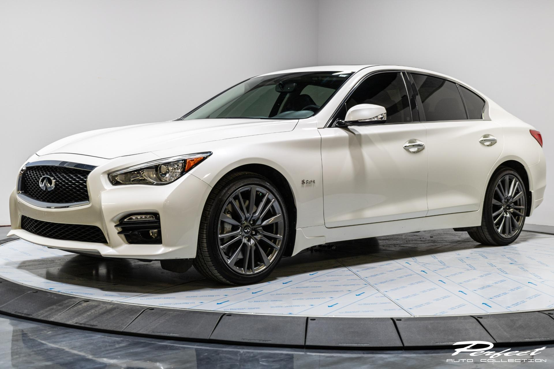 Used 2016 INFINITI Q50 Red Sport 400 for sale Sold at Perfect Auto Collection in Akron OH 44310 1