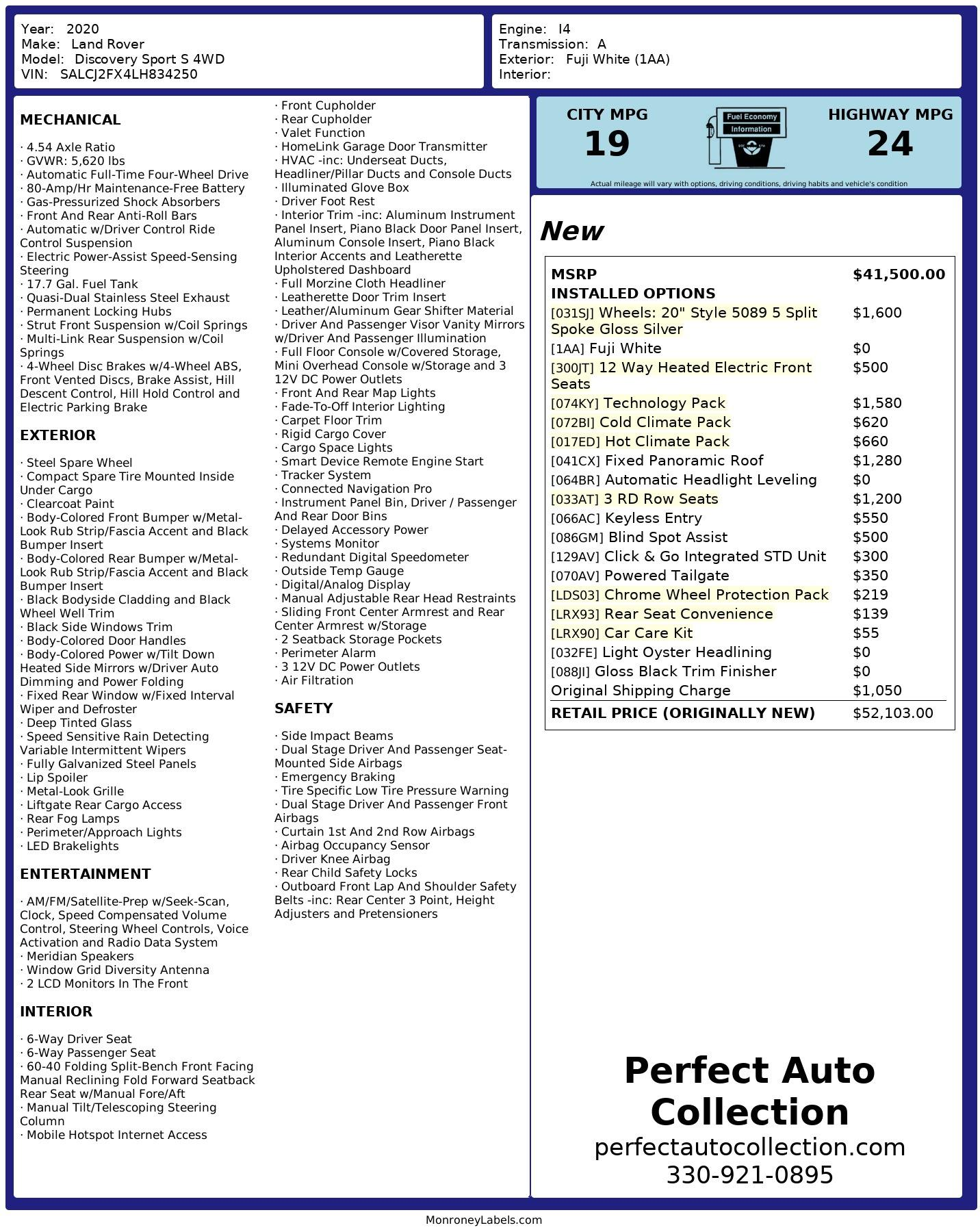 Used 2020 Land Rover Discovery Sport P250 S for sale $40,993 at Perfect Auto Collection in Akron OH 44310 4