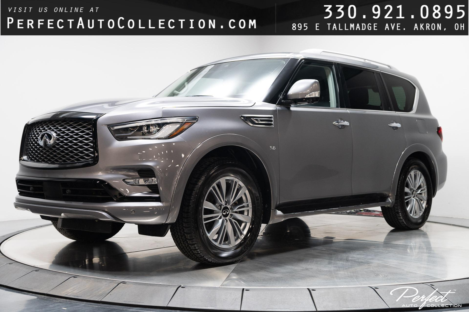 Used 2020 INFINITI QX80 Luxe for sale $59,895 at Perfect Auto Collection in Akron OH 44310 1