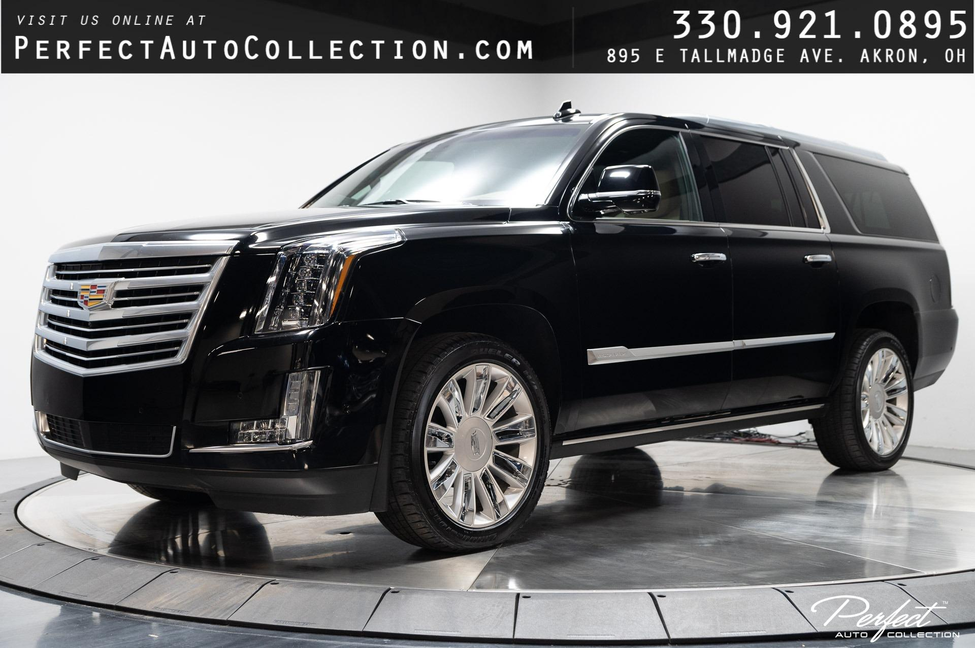 Used 2019 Cadillac Escalade ESV Platinum for sale $68,995 at Perfect Auto Collection in Akron OH 44310 1