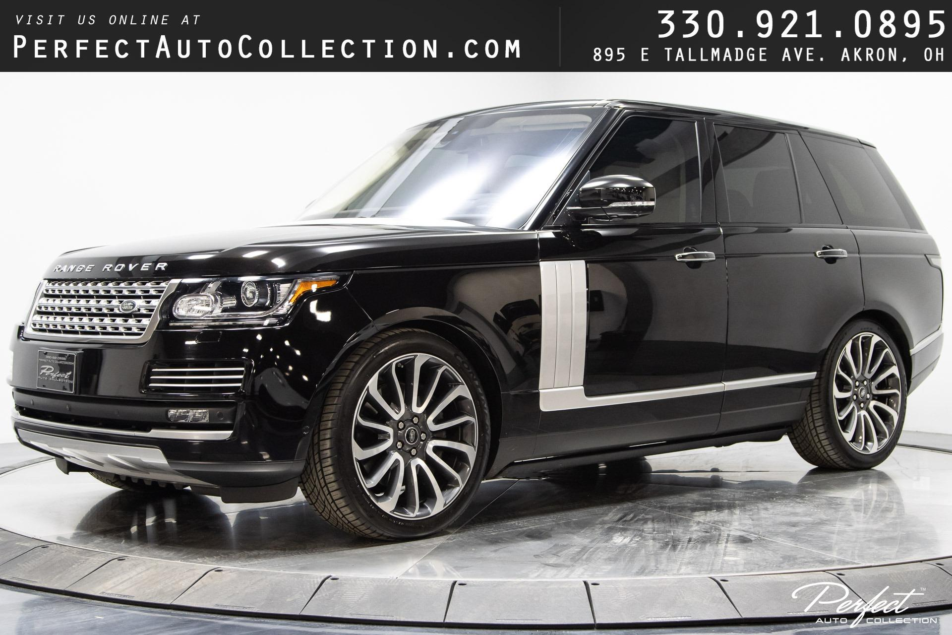 Used 2016 Land Rover Range Rover Autobiography for sale $68,995 at Perfect Auto Collection in Akron OH 44310 1