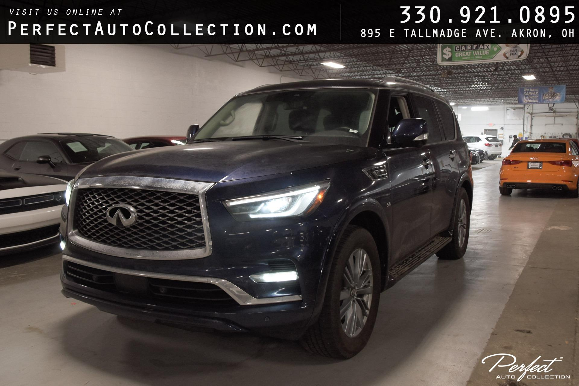 Used 2020 INFINITI QX80 Luxe for sale $51,995 at Perfect Auto Collection in Akron OH 44310 1