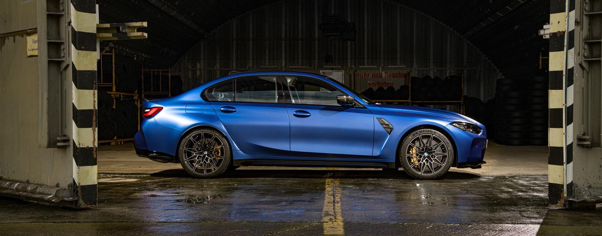Exclusive first look at the 2021 BMW M3 in Frozen Portimao Blue